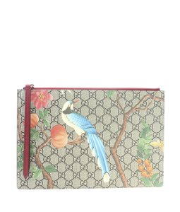 Gucci Coated Canvas Multi-ColorxRed Clutch