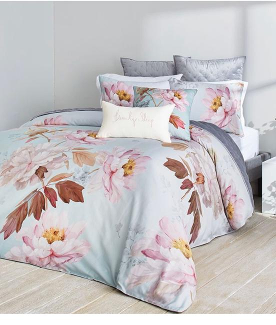 Item - Blue/Pink Butterscotch King Duvet Cover and Two King Shams. Other