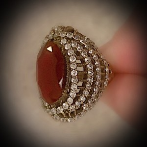 Red Pigeon Blood Ruby Fine Art Size 7.5 Solid 925 Sterling Silver/Gold Wow Brilliantly Faceted Oval Gemstone Topaz Ring
