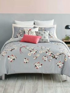 Ted Baker Gray/Multicolored New London Flight Of The Orient King Duvet Cover & Shams Other