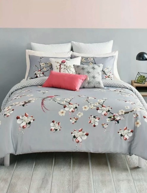 Item - Gray/Multicolored New London Flight Of The Orient King Duvet Cover & Shams Other