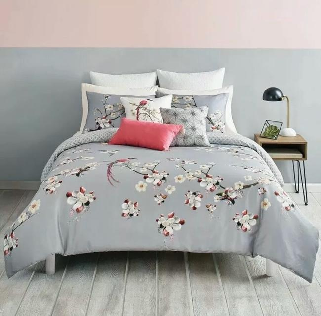Ted Baker Gray/Multicolored New London Flight Of The Orient King Duvet Cover & Shams Other Ted Baker Gray/Multicolored New London Flight Of The Orient King Duvet Cover & Shams Other Image 2