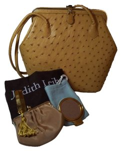 Judith Leiber Custom Ostrich Leather Double Straps Shoulder Bag