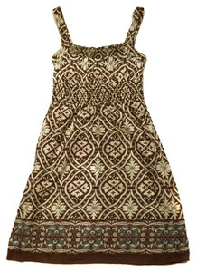 Mossimo Supply Co. short dress Brown Multi Multi Colored Cotton Cute Pretty Fun Flirty Adorable on Tradesy
