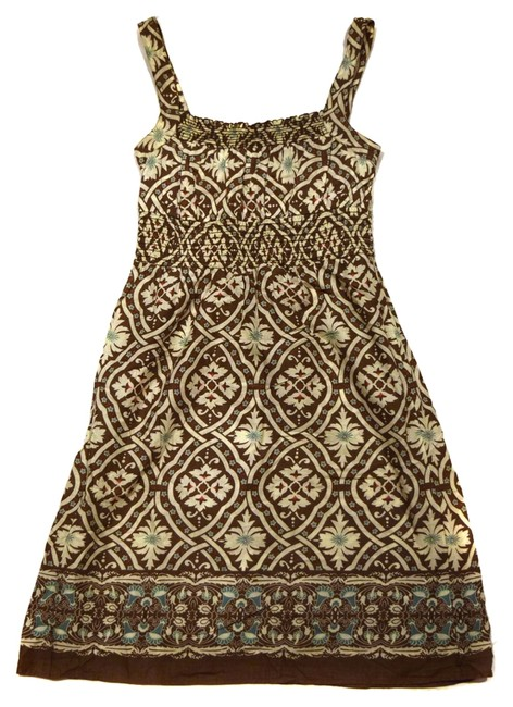 Preload https://item3.tradesy.com/images/mossimo-supply-co-brown-multi-sundress-colored-cotton-cute-pretty-fun-flirty-adorable-knee-length-sh-2671942-0-0.jpg?width=400&height=650