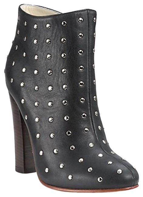 Item - Black Studded High Heel Boots/Booties Size US 9 Regular (M, B)