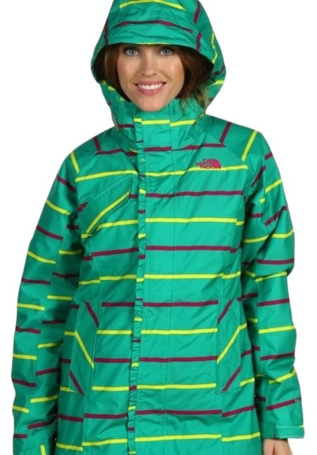Item - Green Lifty Triclimate 3 In 1 Interchange Striped Hooded Waterproof Snow Coat Size 6 (S)