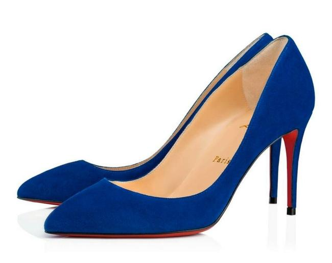 Christian Louboutin Blue Pigalle Follies 85mm Cyclades Suede Stiletto Pumps Size EU 37 (Approx. US 7) Regular (M, B) Christian Louboutin Blue Pigalle Follies 85mm Cyclades Suede Stiletto Pumps Size EU 37 (Approx. US 7) Regular (M, B) Image 1