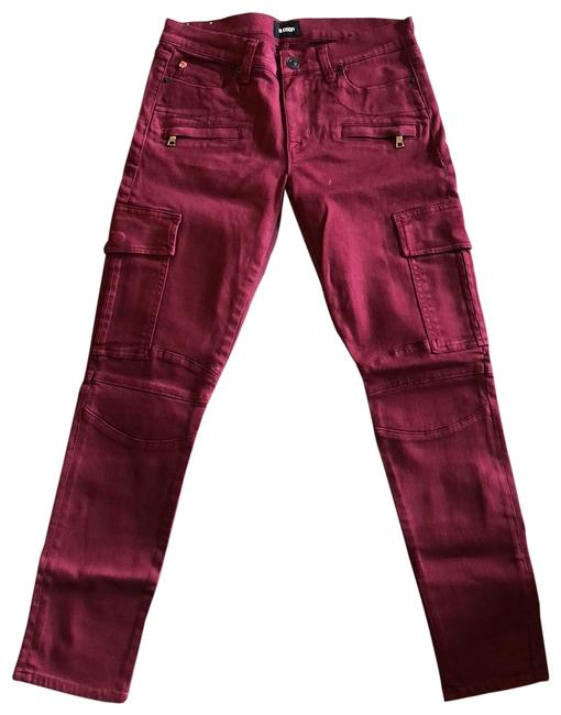 Item - Red Colby Ankle Moto Skinny Boyfriend Cut Jeans Size 4 (S, 27)