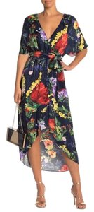 Navy, Floral, Red, Yellow Maxi Dress by Alice + Olivia