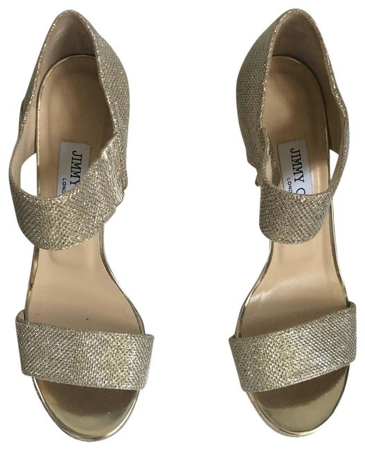Item - Gold Stiletto Platforms Size US 7.5 Regular (M, B)