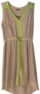 The Letter short dress beige and green on Tradesy