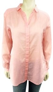 Fossil Button Down Shirt Pale Pink Coral