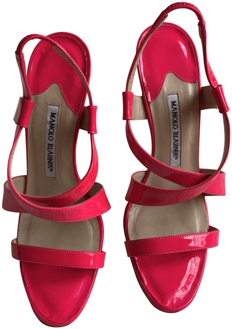 Item - Pink Neon Sandals Size EU 38 (Approx. US 8) Regular (M, B)
