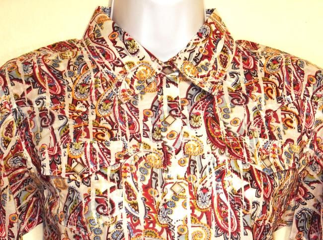 Ariat Famke Riding Shirt Longsleeve Button Up Western Cowboy Cowgirl Paisley Colorful Paisley Print Festival Festive Women's Button Down Shirt Multi