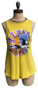 Free People We The West Coast Summer T Shirt yellow