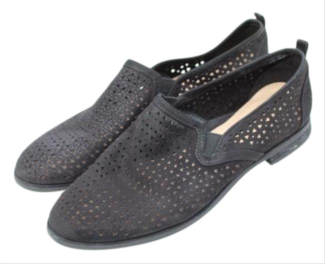 Item - Black Perforated Loafers Flats Size US 9.5 Regular (M, B)