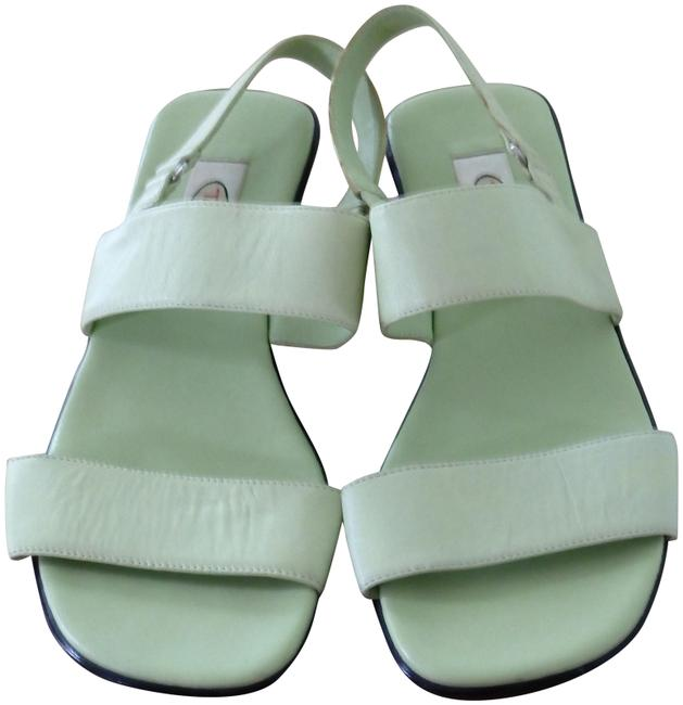 Talbots Lime Green Genuine Leather Strap Sandals Size US 7 Regular (M, B) Talbots Lime Green Genuine Leather Strap Sandals Size US 7 Regular (M, B) Image 1