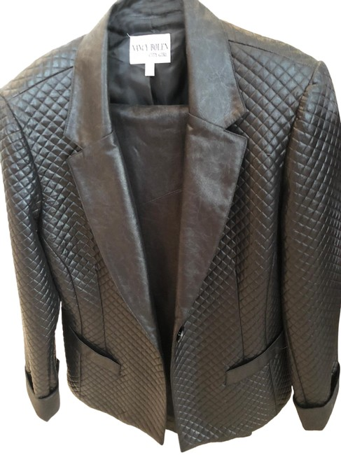 Item - Black Grey Jacket and Slacks Pant Suit Size 10 (M)