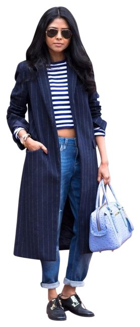 Item - Navy Pinstripe Coat Size 0 (XS)