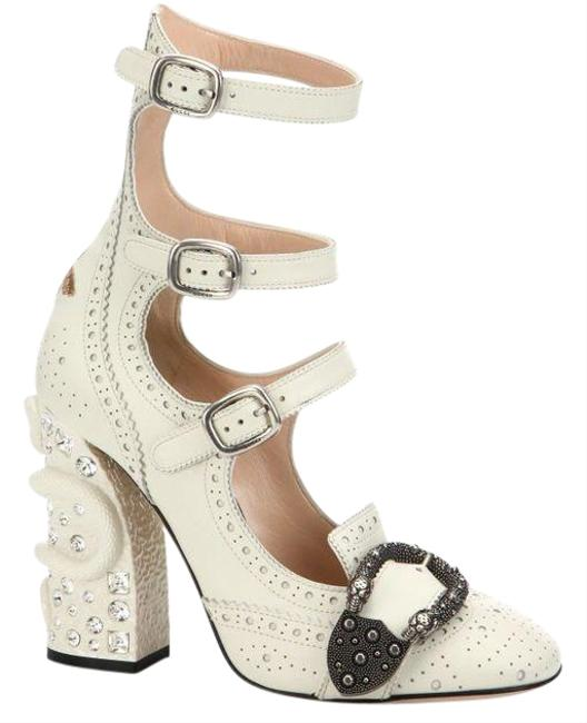 Gucci White Queercore Brogue Pumps Wedges Size EU 40 (Approx. US 10) Regular (M, B) Gucci White Queercore Brogue Pumps Wedges Size EU 40 (Approx. US 10) Regular (M, B) Image 1