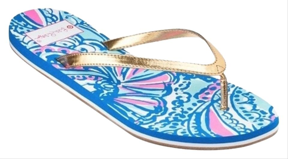 dd4afa5e25f0 Lilly Pulitzer My Fans For Target Women s Flip Flops Sandals Size US ...