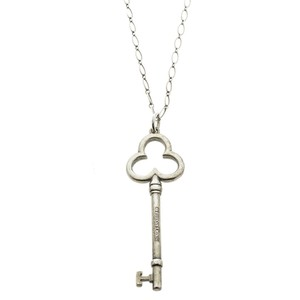Tiffany & Co. Key Silver Chain Link Pendant Necklace