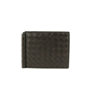 Bottega Veneta Brown Woven Leather Bi-fold Intrecciato Wallet 390877 2040 Groomsman Gift