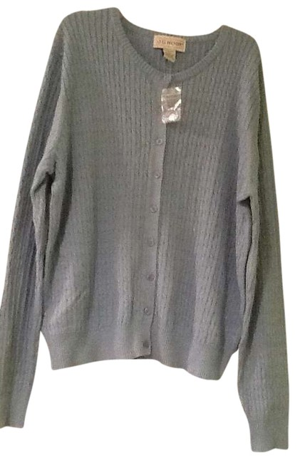 Item - XL Cable Knit Button Light Blue Sweater