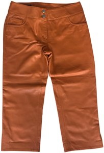 Donald J. Pliner Capri/Cropped Pants Orange