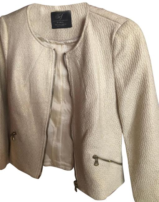 Item - Winter White N Gold Jrf Collection Jacket Size 4 (S)