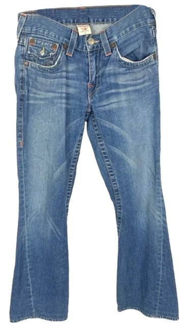 Item - Blue Medium Wash Faded Whiskering Joey Boot Cut 29x30 Flare Leg Jeans Size 29 (6, M)