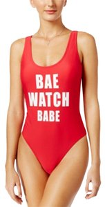 California Waves California Waves Juniors Baewatch Babe Graphic One Piece Swimsuit