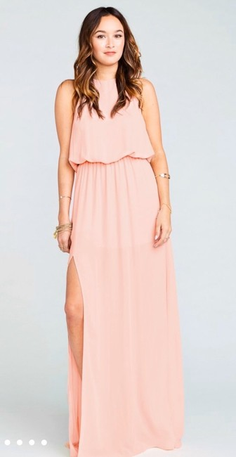 Item - Frosty Pink Heather Halter Casual Bridesmaid/Mob Dress Size 12 (L)
