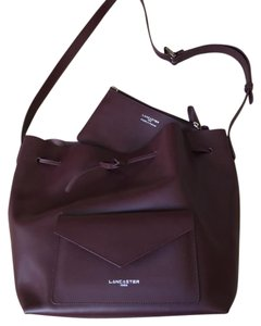 Lancaster Paris Luxe Bucket Made In France Tote in Purple