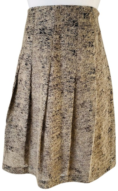 Item - Gray Cream High Waisted Wool Pleated Skirt Size 4 (S, 27)