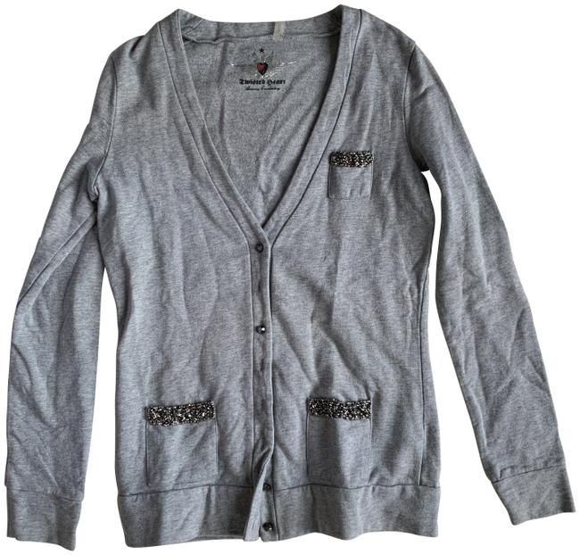 Item - Crystals Cotton Gray Sweater