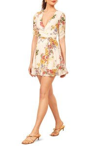 Reformation short dress Ivory Floral Floral Print on Tradesy