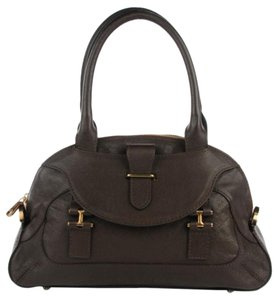 Chloé Italy Georgia Casual Satchel in Anthracite Brown
