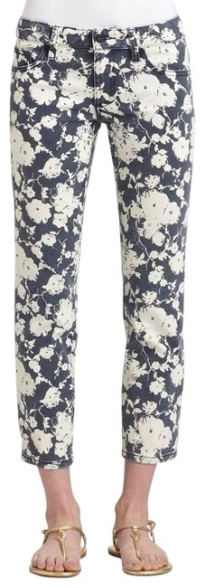 Item - Printed Floral Alexa Cropped Skinny Jeans Size 4 (S, 27)