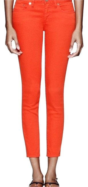 Item - Lobster Red Alexa Cropped Skinny Jeans Size 0 (XS, 25)