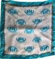 Juicy Couture White/Blue/Gold Silk Square Scarf/Wrap Juicy Couture White/Blue/Gold Silk Square Scarf/Wrap Image 1