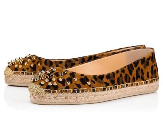 Item - Black Aliochette Caramel Leopard Gold Spike Flats Size EU 38 (Approx. US 8) Regular (M, B)
