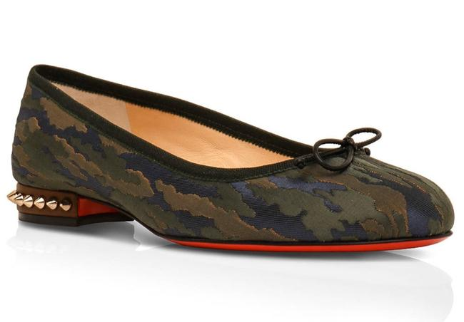 Item - Green La Massine Camouloubi Ballet Flats Size EU 38 (Approx. US 8) Regular (M, B)