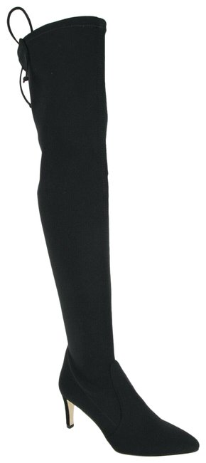 Item - Black Stretch Fabric Janille Lycra Over The Knee 6.5m Boots/Booties Size US 6.5 Regular (M, B)