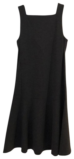 Item - Grey Fit and Flare Mid-length Short Casual Dress Size 4 (S)