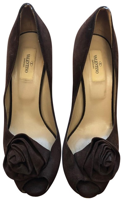 Item - Brown Rose Petal Platforms Size EU 39 (Approx. US 9) Regular (M, B)