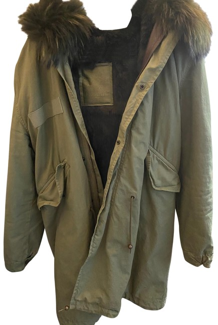 Item - Green Long Army Parka With Coat Size 2 (XS)