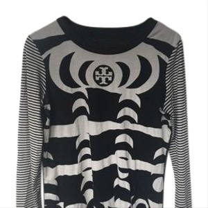 Tory Burch T Shirt black and cream/ grey neutral