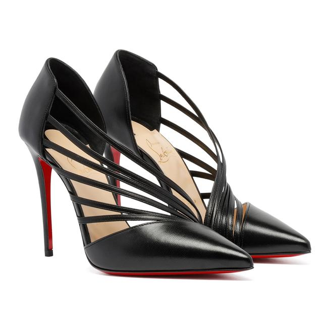 Christian Louboutin Black Antinorina 100 Leather Strappy Pointed Pumps Size EU 40 (Approx. US 10) Regular (M, B) Christian Louboutin Black Antinorina 100 Leather Strappy Pointed Pumps Size EU 40 (Approx. US 10) Regular (M, B) Image 1